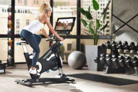 Strideride 9r Disk Hybrid Elliptical Stepper Outside Cardio Bike.